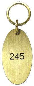 hotelschlüsselanhänger messing oval 65 mm