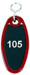 Hotelschlüsselanhänger 80 mm rot oval