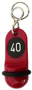 Hotelschlüsselanhänger 60 mm rot